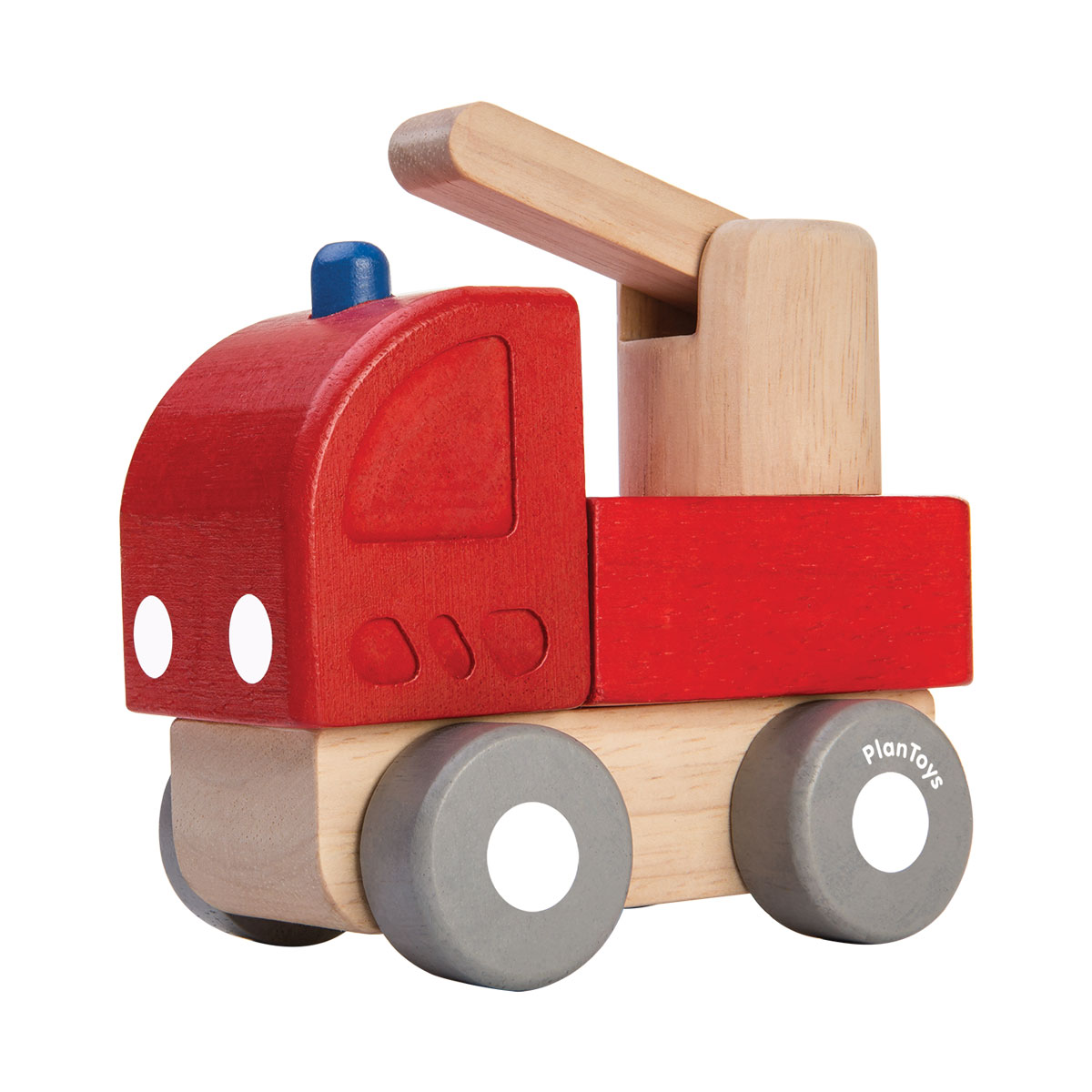 mini camion de pompier en bois cologique et non toxique. Black Bedroom Furniture Sets. Home Design Ideas